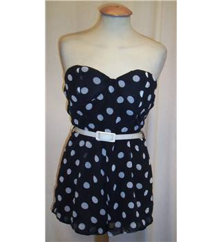Love Pink Boutique - size: 10, black and white spotted playsuit