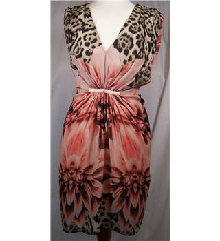 Marciano Size 6 pink floral and animal print dress