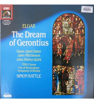 Elgar: Dream of Gerontius. Baker,Mitchinson,Shirley-Quirk. CBSO Chorus, Birmingham SO/Rattle. HMV 749549. 2LP.