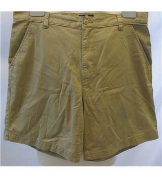 "M&S Marks & Spencer Blue Harbour - Size: Medium/36"" - Beige - Men's Chino Shorts"