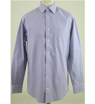 "M&S Collection  size: collar: 15"" purple mix long sleeved shirt"