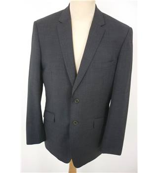 "Ted Baker Size: Jacket, 40"" chest, trd fit & Trousers, 34"" waist, 30"" inside leg Gray Stylish Wool Designer Single Breasted Suit"