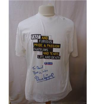 Screen Stars Fruit Of The Loom - Size: XL - White - Signed Steve Ogrizovic T-shirt