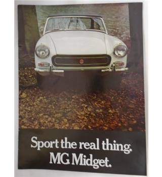 SPORT THE REAL THING MG MIDGET BROCHURE BRITISH LEYLAND MG