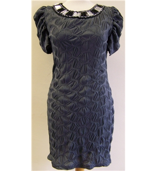 Pussy Cat London Size S grey with beaded neckline dress