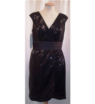 BNWT Alfred Angelo, size 12 black sequinned dress