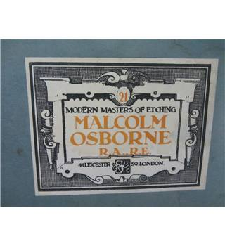 Modern Masters of Etching Malcolm Osborne RARE