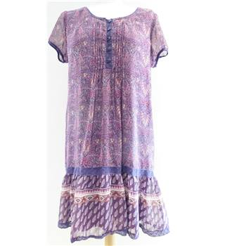 Unbranded - Size: 16 - Purple Paisley patterned smock top