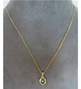 Necklace, gold effect chain with gunmetal stone pendant Unbranded - Metallics