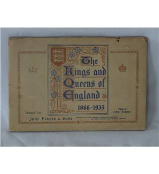 "50% OFF SALE John Player and Sons Cigarette Card Complete Set ""The Kings And Queens of England 1066-1935""."