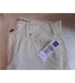 Gap - Size: 12 - Cream / ivory - Ultra low rise cream jean style trousers