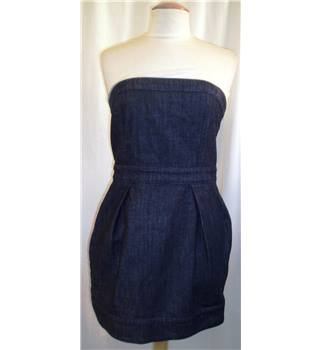 French Connection Size: 14 Blue Strapless dress