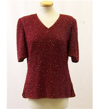 Frank Usher size: S red beaded top