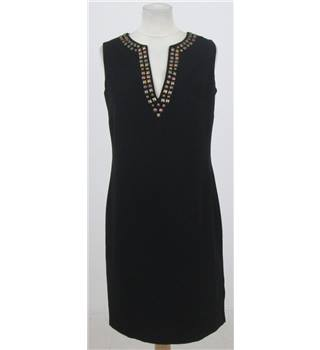 M&S Size:10 black sleeveless dress