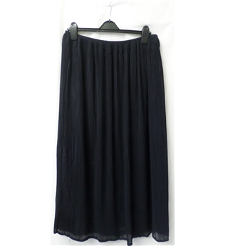 Bianca - Size: 14 - Black (dark navy) - Smart long skirt