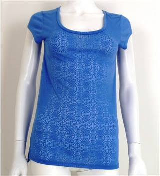 BNWT Biba Size 6 Blue Patterned Top