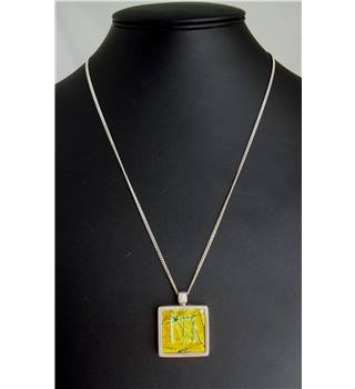 Silver 925 - Size: Large - Yellow - Pendant with chain