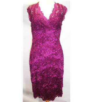 LE CHATEAU Size Small Purple Sequined Knee Length Dress (HALF PRICE)