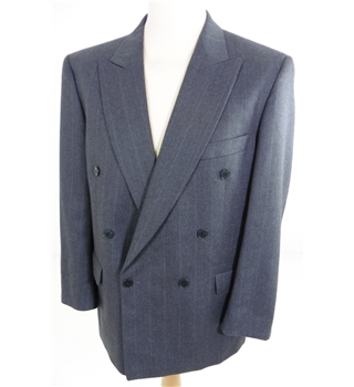 Jaeger Size: 40 Regular grey pin striped double breasted suit