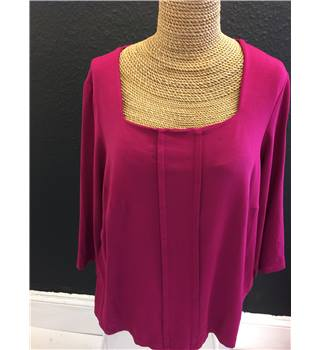 Pink Cropped-sleeve Top Kettlewell - Size: XL - Pink