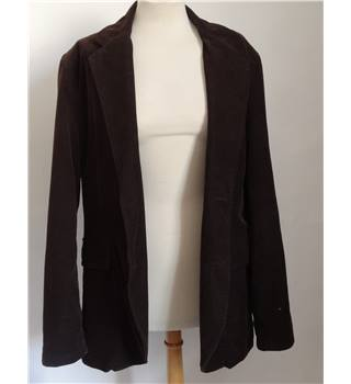 Brown Corduroy Jacket Crew Clothing Co. - Size: L - Brown - Jacket