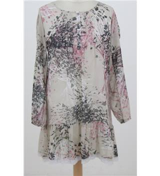 Redoute - Size: 6 - Beige floral floaty dress