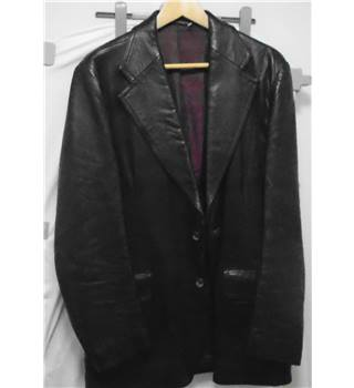 "Jackson the Tailor - Black Nappa Leather Jacket - 40"" Jackson the Tailor - Size: XL - Black"