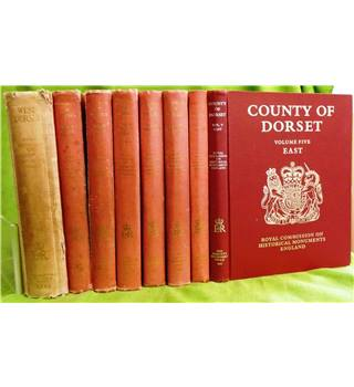 An Inventory of Historical Monuments in the County of Dorset (Complete set: 5 volumes in 8 books)