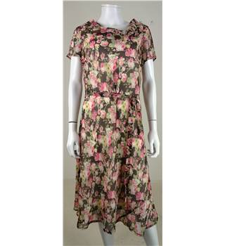 Anne Rose Size 12 Floral Sheer Dress