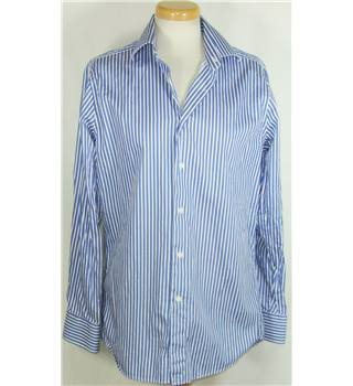 "Charles Tyrwhitt size 15"" Collar Blue and White Striped Shirt"