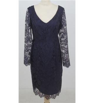 Bravissimo size 10  purple lace dress