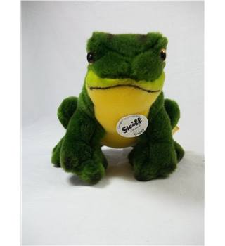 Cappy the frog, With tags and metal button, Steiff