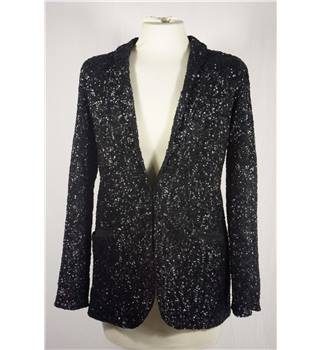 Black Hepsey Sequin Jacket from Jack Wills in UK size 10