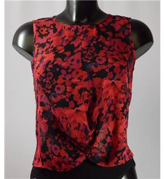 Topshop - Floral Patterned Sleeveless Top - Size 8