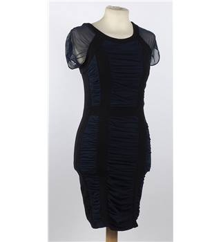 River Island Starlet size 6 navy and black mesh dress. River Island - Size: 6 - Blue