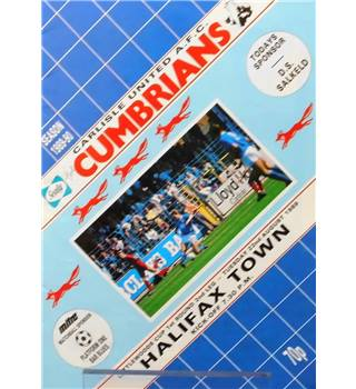 Carlisle United v Halifax Town - League Cup 1st Round 2nd Leg - 22nd August 1989