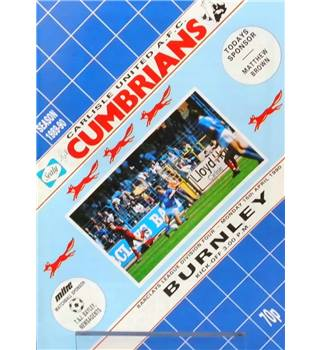 Carlisle United v Burnley - Division 4 - 16th April 1990
