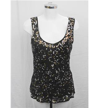 East brown sequinned top Size 10
