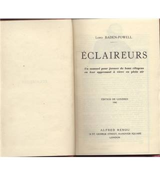 Éclaireurs (Scouts)   (French text)