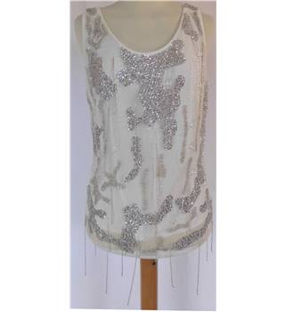 Stunning Sequin And Jewelled Size M top by Platinum