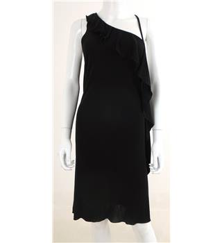 Ted Baker Size 8 Black Asymtrical Dress