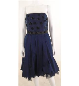 French Connection Size 12 Navy Sequin Embellished Cocktail Dress
