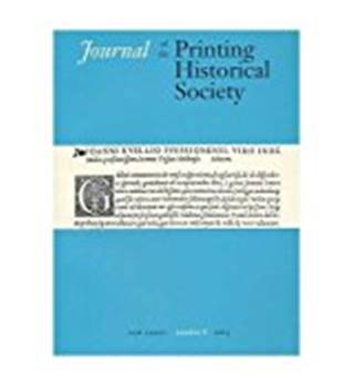 Journal of the Printing Historical Society - Number 8 - 2005
