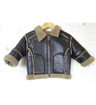 Microbe Quick Baby - Size: 6 months - Black - Leather jacket