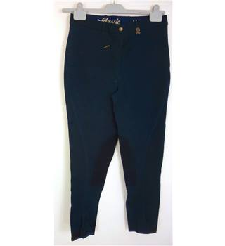 "BNWoT Hac.Tac Size: 16 ,32"" waist,  26"" inside leg Navy Blue Equestrian/Sporty ""Damen"" Stretch Cotton Competition Breeches"