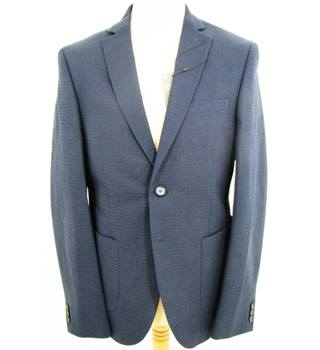 "M&S Collection Size 42"" Chest  Blue Cotton Blended Jacket"