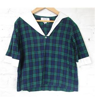 Claudia for Emma Goad - Size: 6 - 7 Years - Green/Blue/Black/White - Sailor top