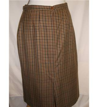 Cotswold Collections size 16 brown checked wool skirt