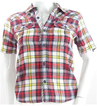 Quicksilver - Size: 8 S - Red - Short sleeved shirt