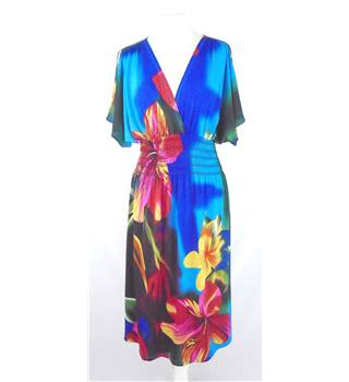 F & Girl - Size: 14 - Multi-coloured - Tropical Print Dress